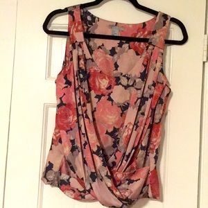 Blush floral blouse